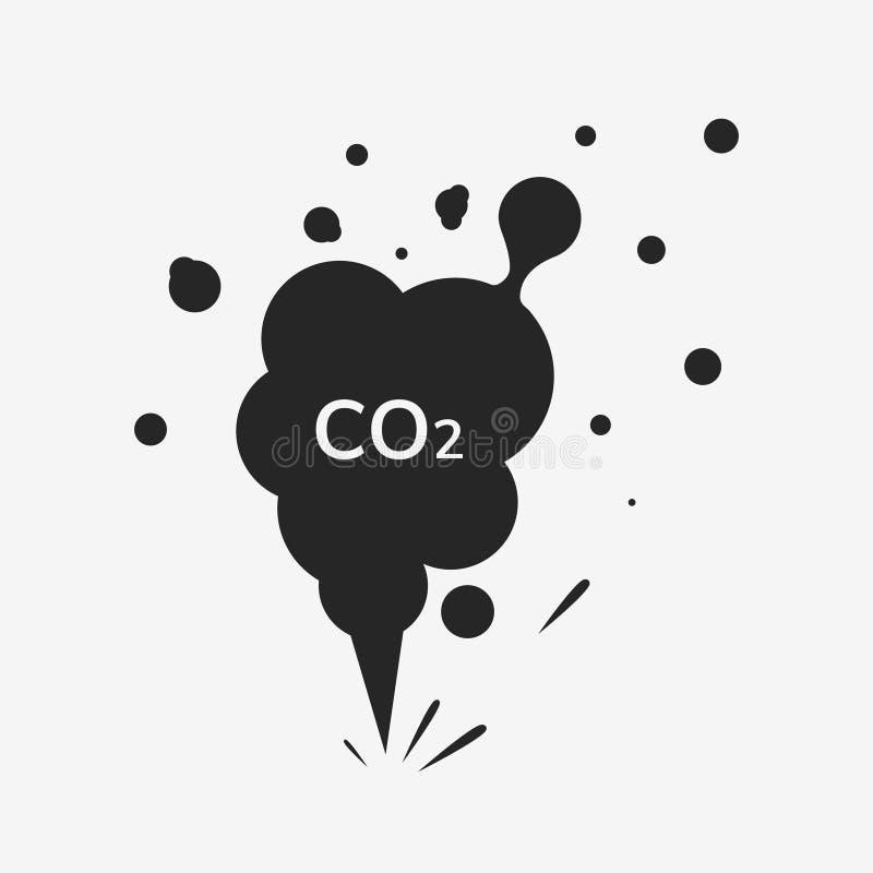 二氧化碳排放象 向量例证