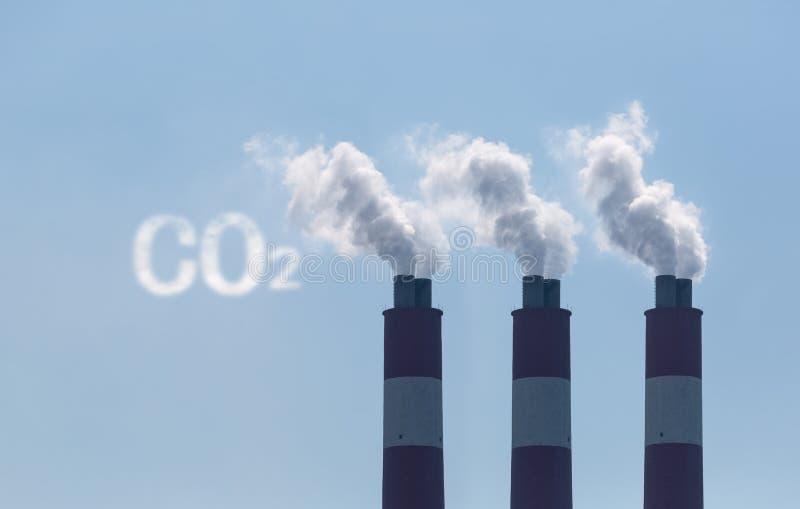 二氧化碳放射 免版税库存图片