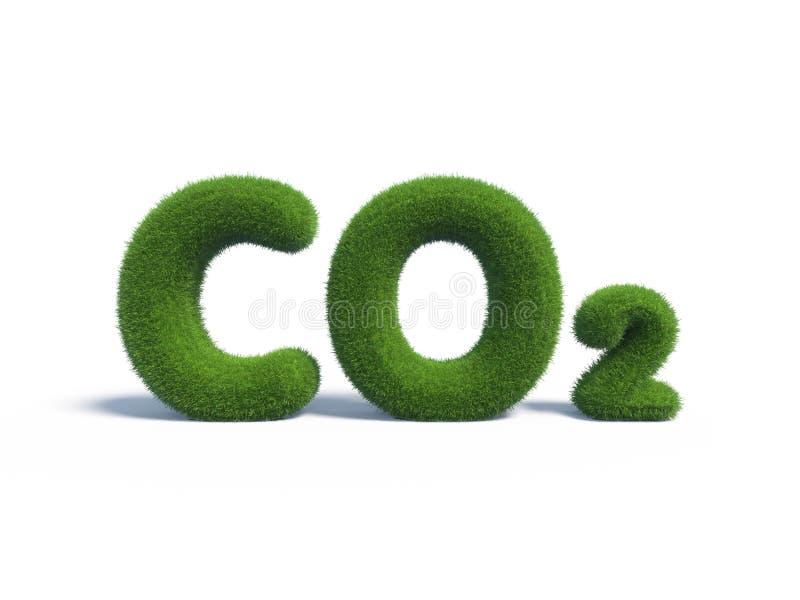 二氧化碳表单草绿色信函 皇族释放例证