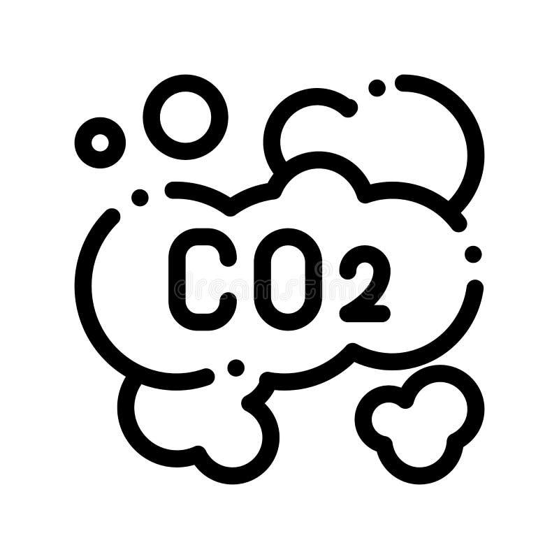 二氧化碳闷燃烟有蒸汽的空气传染媒介稀薄的线象 皇族释放例证