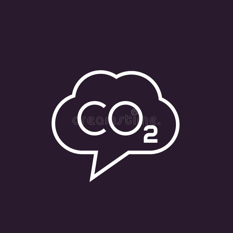二氧化碳,二氧化碳放射导航线性象 库存例证