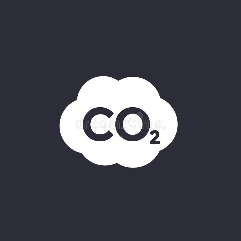 二氧化碳,二氧化碳放射象 库存例证