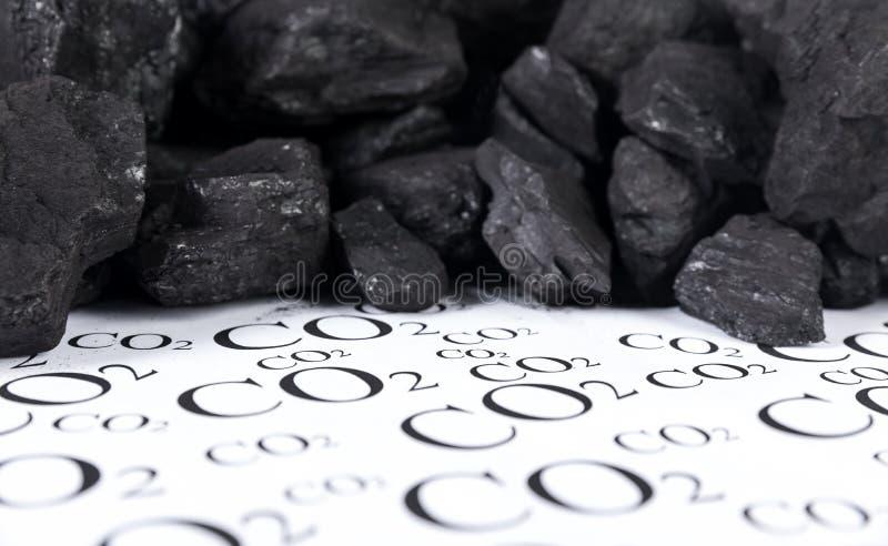 二氧化碳,二氧化碳煤炭放射的概念  库存图片