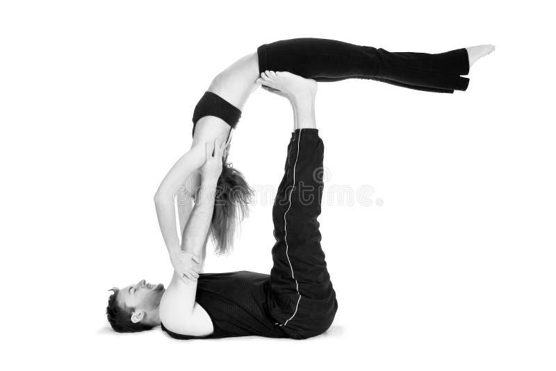 二的瑜伽-系列 免版税库存图片