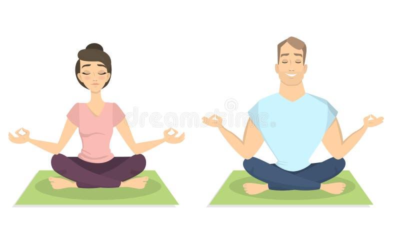 二的瑜伽 皇族释放例证