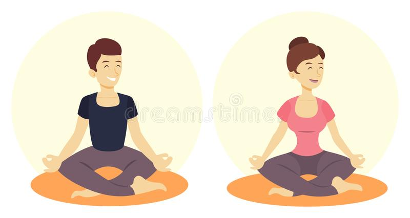 二的瑜伽 库存例证