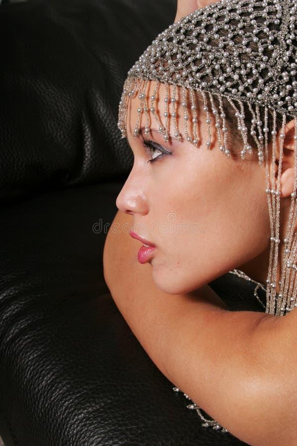 二种人种的性感的妇女 库存照片