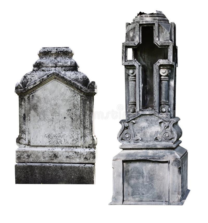 二空白墓碑 免版税图库摄影