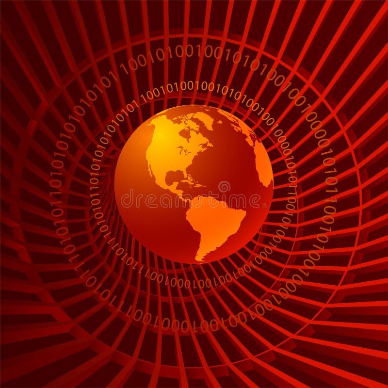二进制世界 皇族释放例证