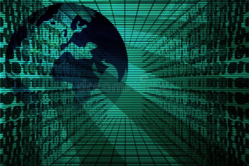 二进制代码地球 皇族释放例证
