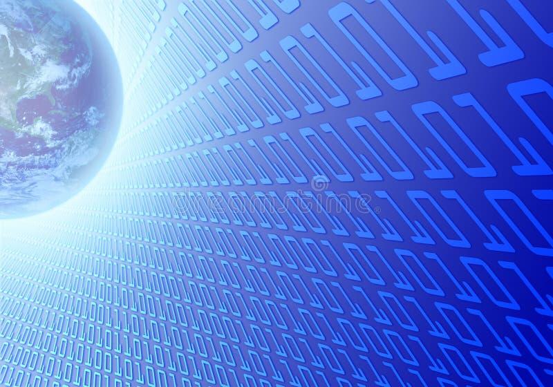 二进制代码地球 库存例证