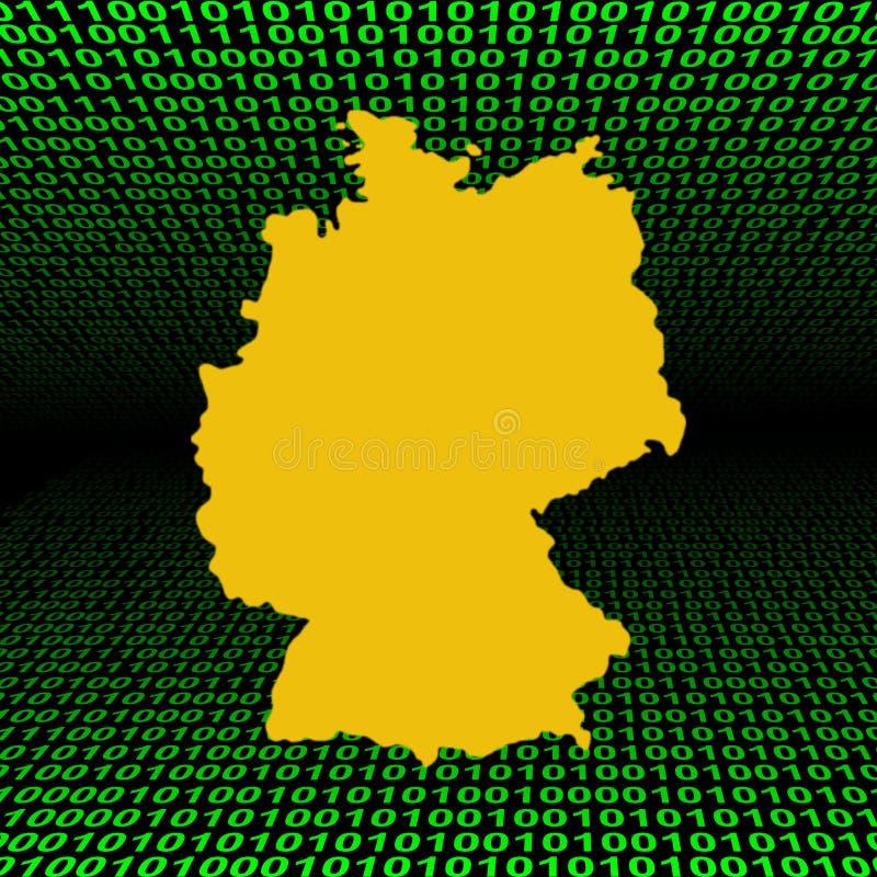 二进制代码德国映射 向量例证