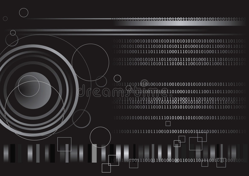 二进制代码数字技术 向量例证