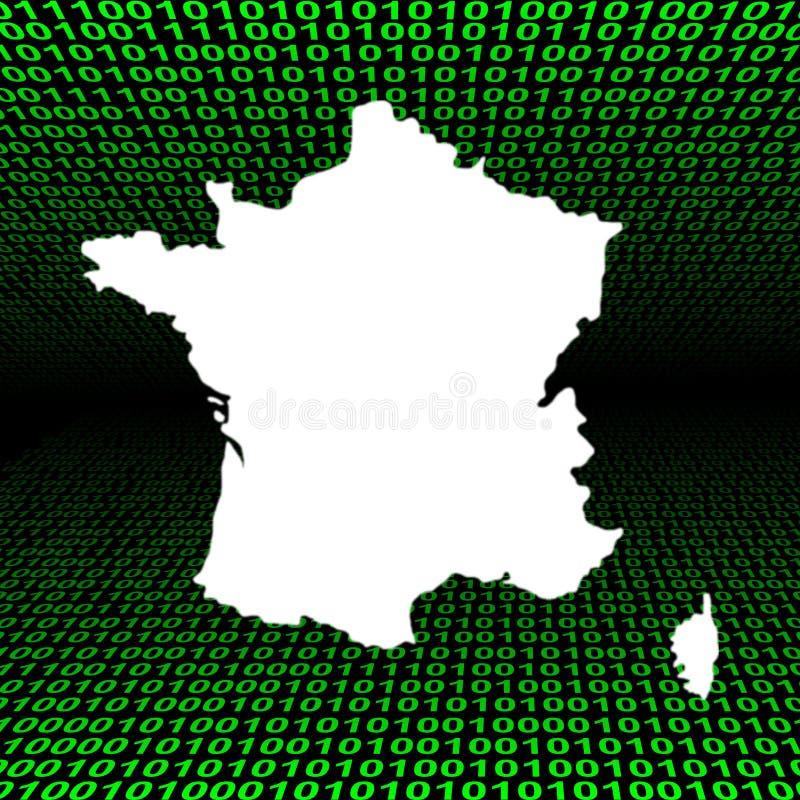 二进制代码法国映射 皇族释放例证