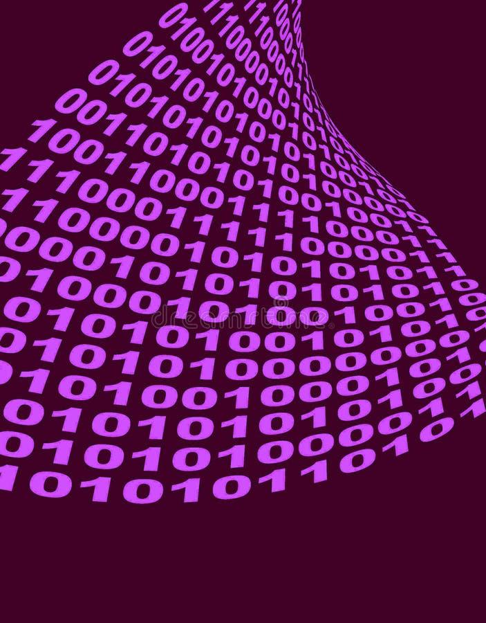 二进制代码空间文本 免版税库存图片