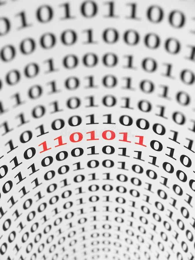 二进制代码错误 库存例证