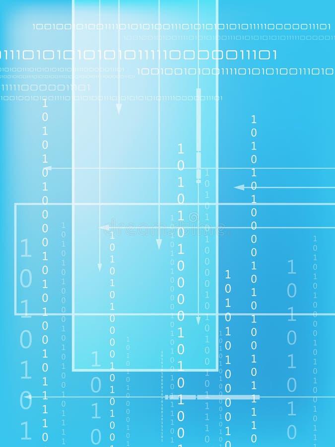 二进制代码 向量例证