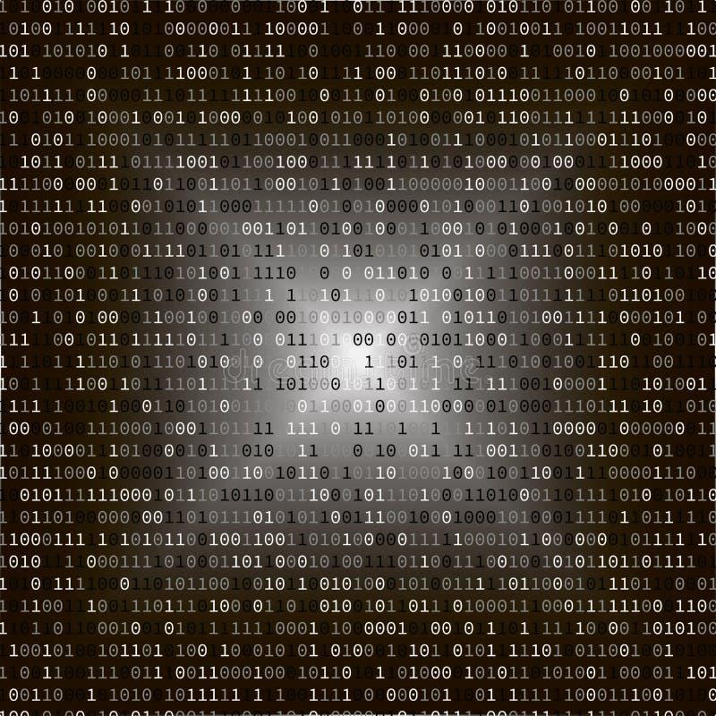 二进制代码 3d概念互联网翻译证券 皇族释放例证