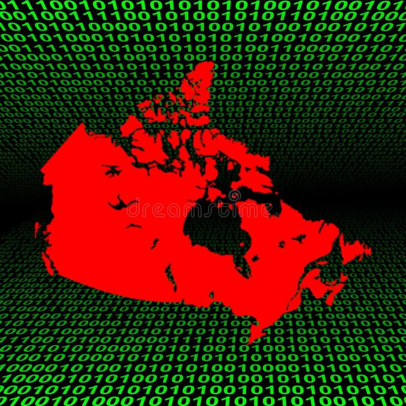 二进制加拿大编码映射 皇族释放例证