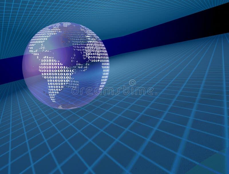 二进制地球 向量例证