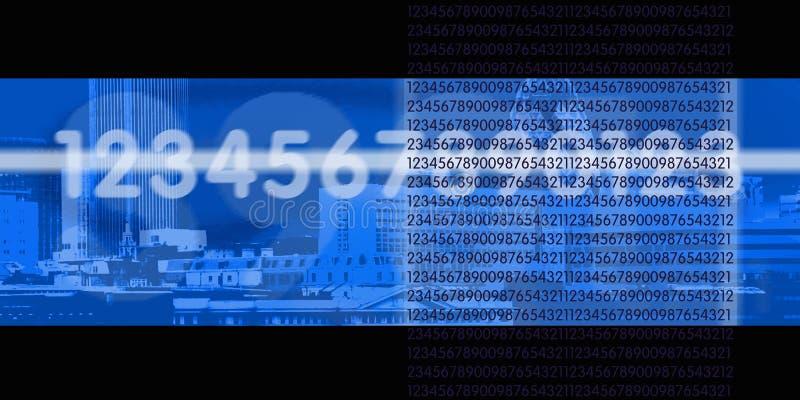 二进制数字式流 库存例证