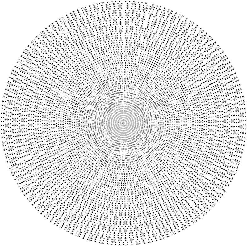 二进制数据库堆来回许多编号的记录 免版税库存图片
