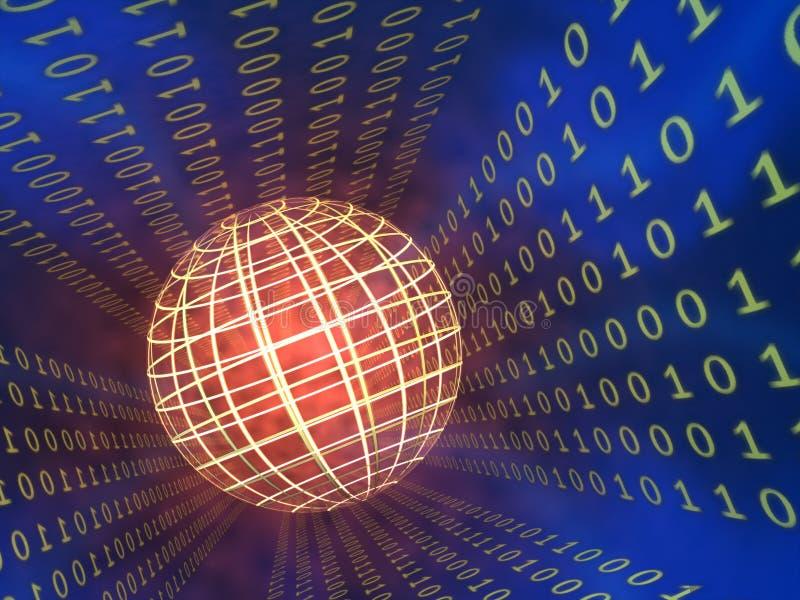 二进制数据 库存例证