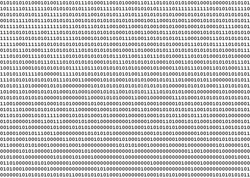 二进制数 库存例证