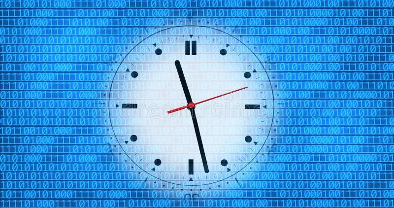 二进制时钟编码 免版税图库摄影