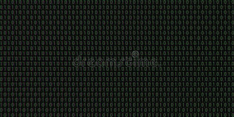 二进制编码背景传染媒介 库存图片