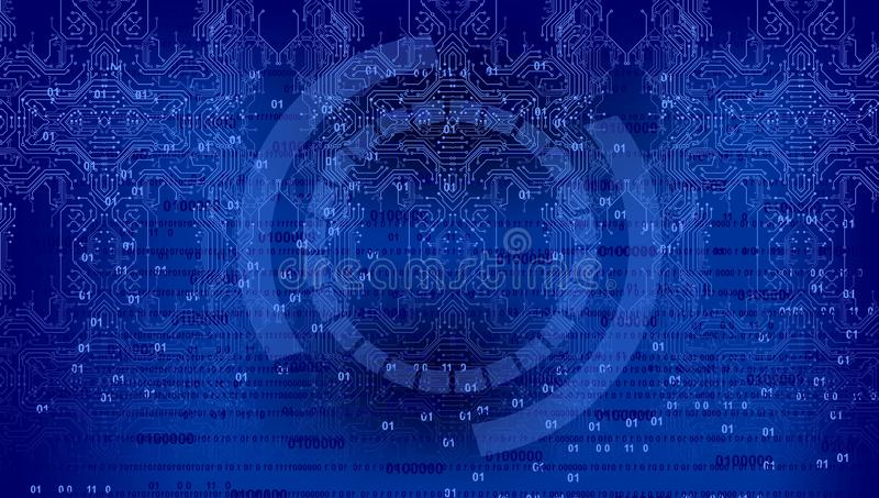 二进制编码背景,数字抽象技术背景 Java,编制程序 库存例证