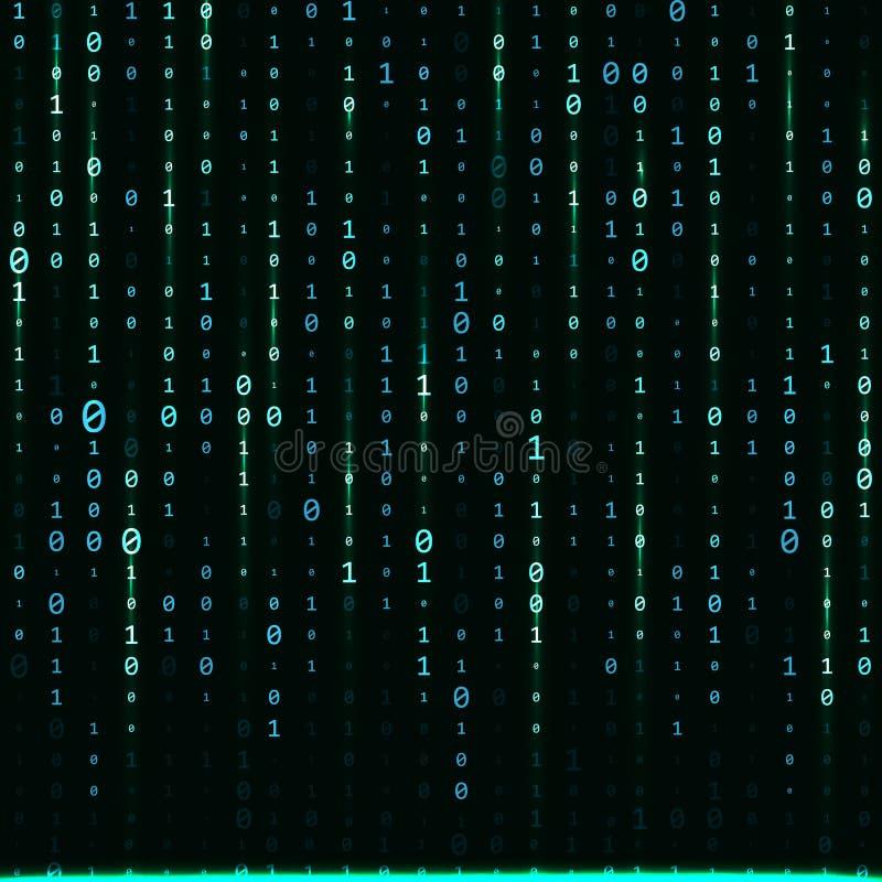 二进制编码零一矩阵白色背景 横幅,样式,墙纸 也corel凹道例证向量 向量例证