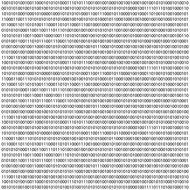 二进制编码零一矩阵白色背景 横幅,样式,墙纸 例证 库存例证