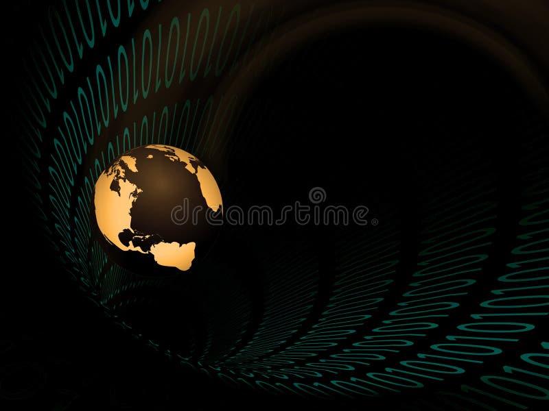 二进制隧道地球 库存例证