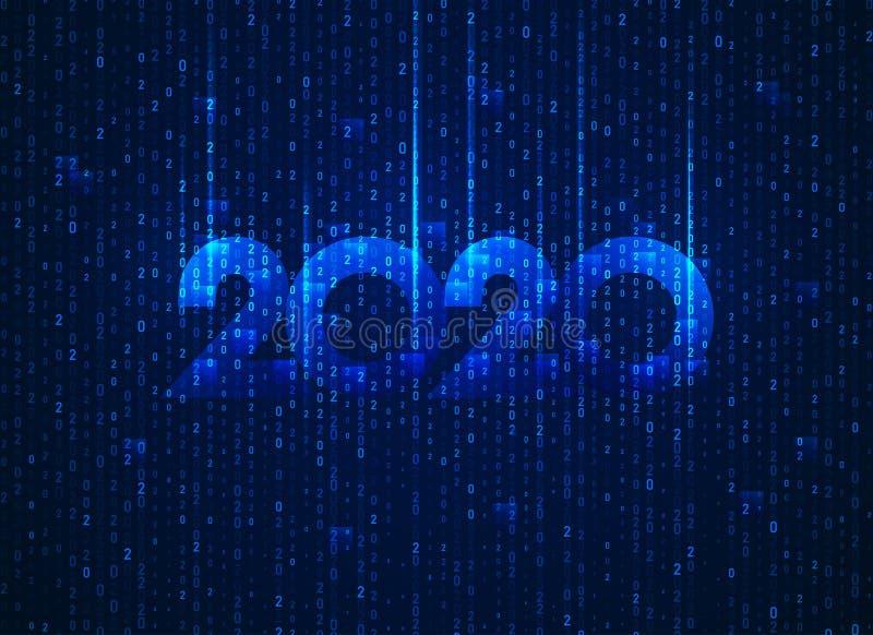 二进制2020 库存例证