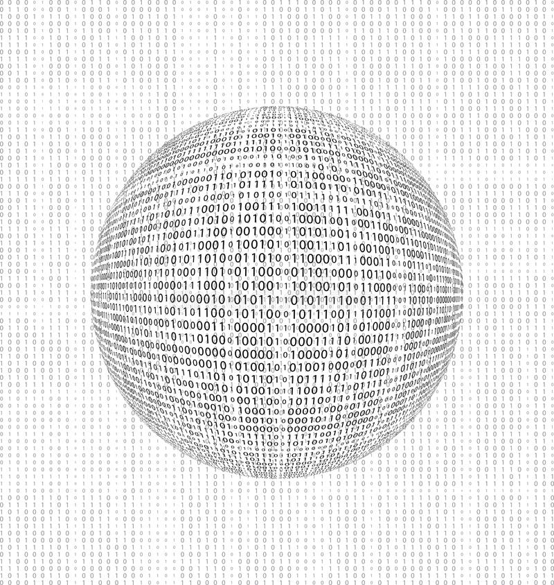 二进制代码地球 向量例证