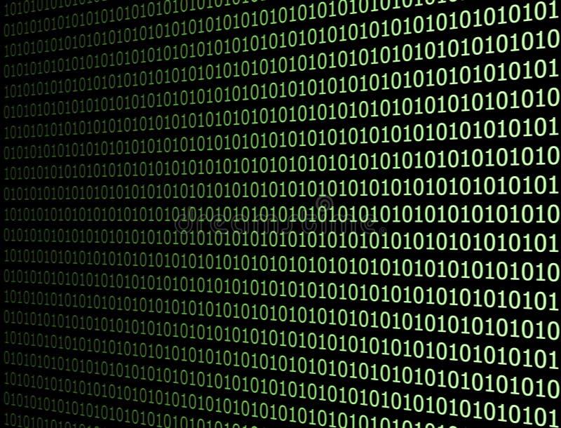 二进制代码计算机 免版税图库摄影
