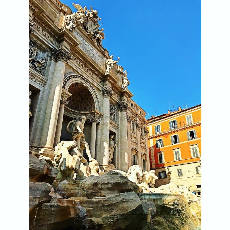 二fontana罗马trevi 免版税库存图片