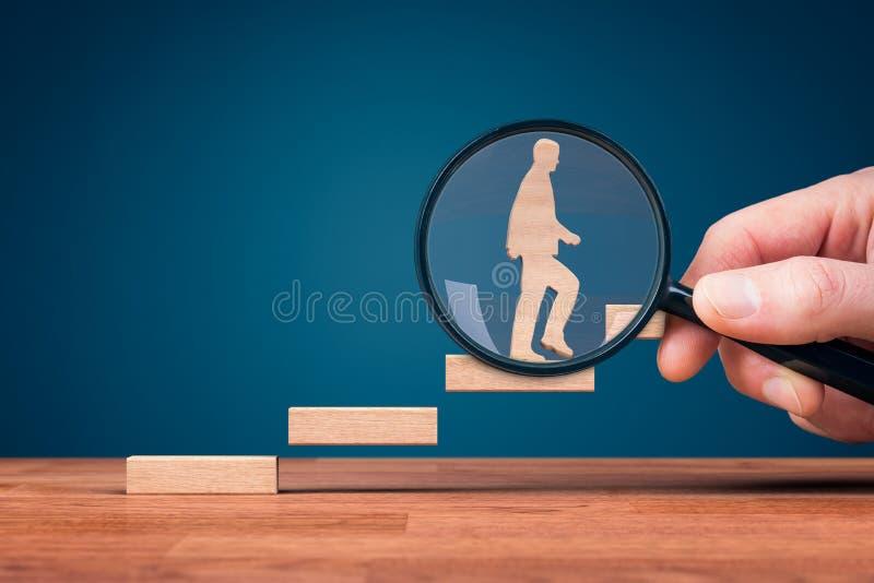 于刺激集中的教练对个人发展 免版税图库摄影