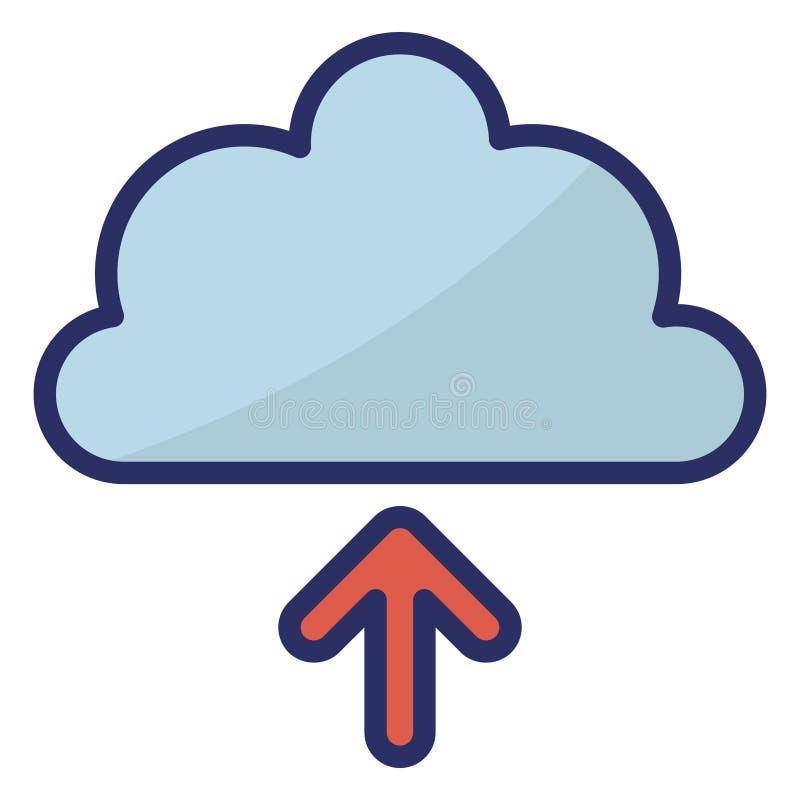 云上载隔离矢量图标易于编辑 库存照片