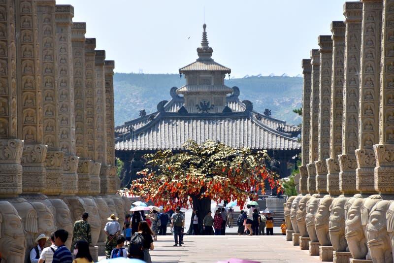 云岗石窟,大同,山西,中国 库存照片