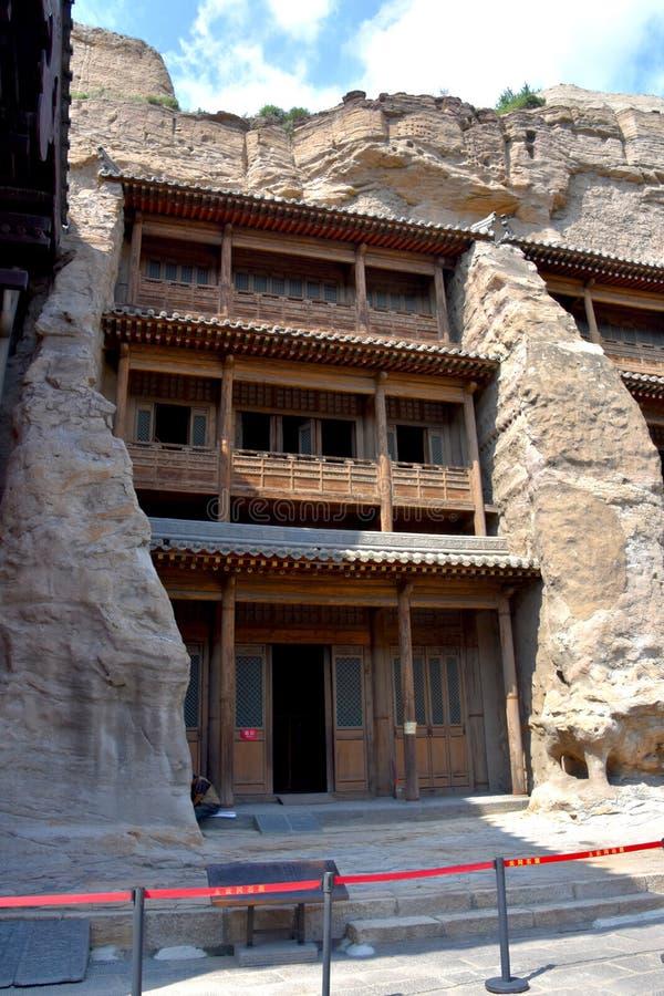 云岗石窟,大同,山西,中国 免版税图库摄影