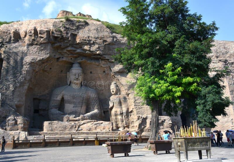 云岗石窟,大同,山西,中国 免版税库存照片