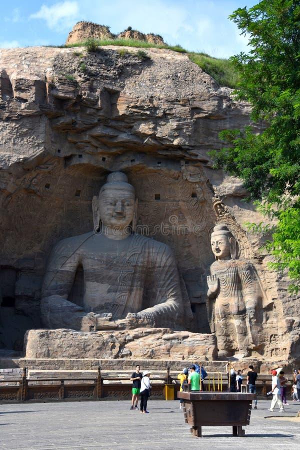 云岗石窟,大同,山西,中国 库存图片