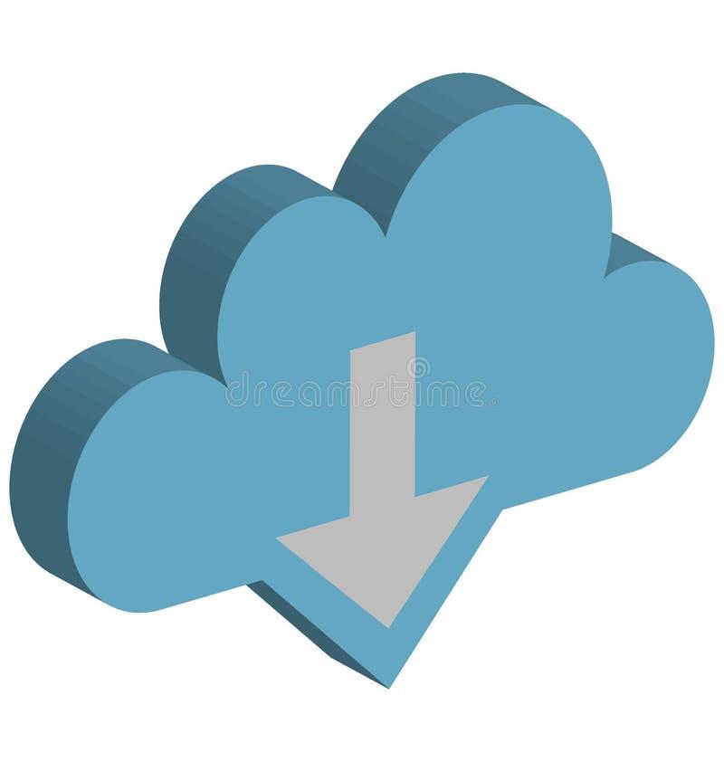 云彩下载传染媒介象隔绝了可能容易地修改或编辑的传染媒介象 向量例证