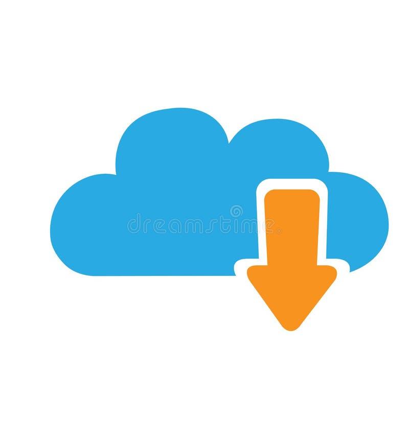 云彩下载在白色隔绝的象传染媒介 向量例证