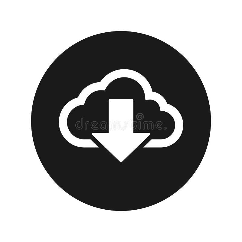 云彩下载象浅黑圆的按钮传染媒介例证 皇族释放例证