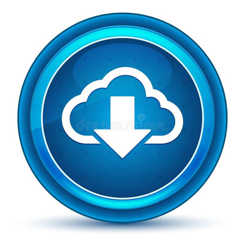 云彩下载象眼珠蓝色圆的按钮 库存例证
