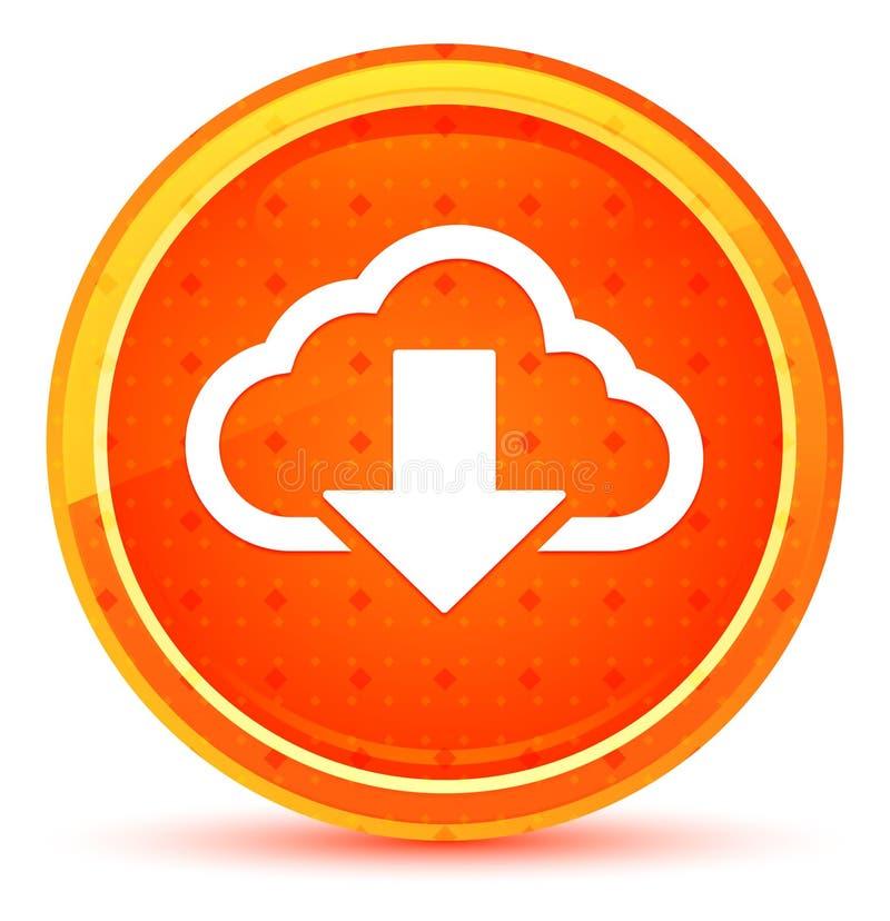 云彩下载象自然橙色圆的按钮 皇族释放例证