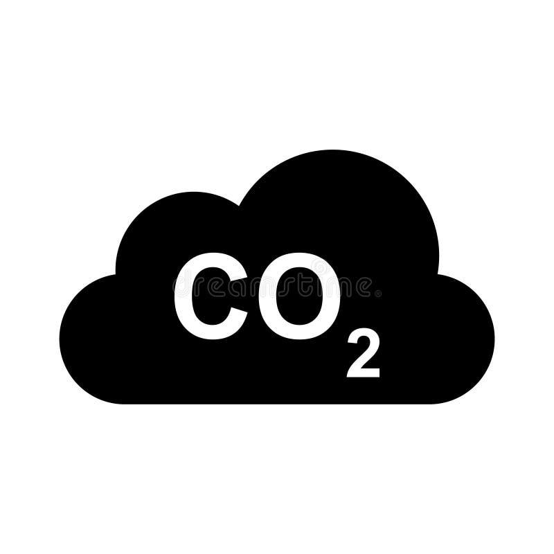 云彩二氧化碳纵的沟纹平的传染媒介象 皇族释放例证